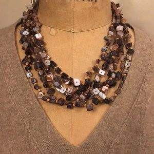 Stunning Multi Strand Statement Necklace